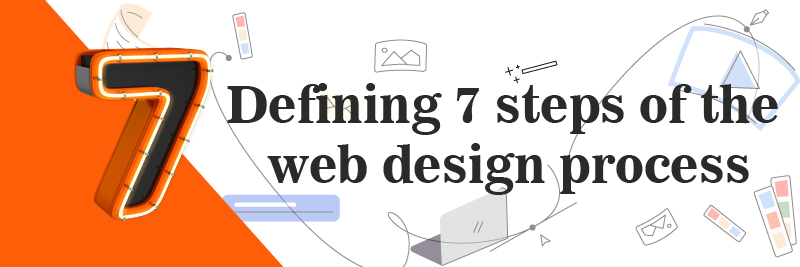 defining 7 steps of the web design process
